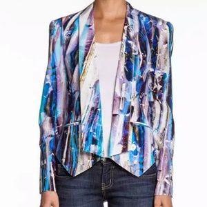 REBECCA MINKOFF Becky Cropped Silk Jacket
